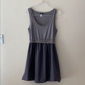 J Crew Gray Bubble Dress Size Large